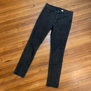 H&M high waisted skinny button fly jeans 6/29